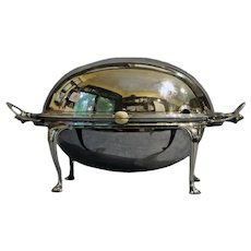 Silverplated Revolving Breakfast Tureen