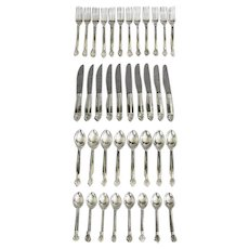 """Acanthus"" Sterling Silver Flatware for 8 Plus"