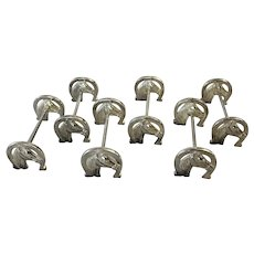"""Good Luck"" Horse Shoe Knife Rests- Set of 6"