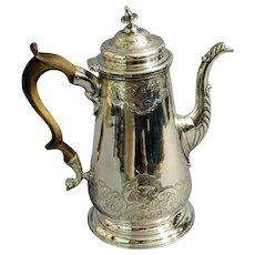George II Sterling Coffee Pot