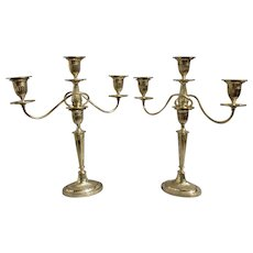 Pair of 3-light Candelabras.