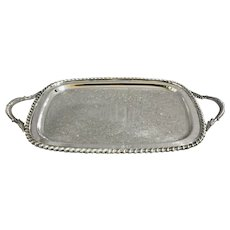 Antique Silver Tea Tray