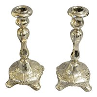 Pair of Silverplated Candlesticks c. 1880