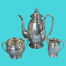 Aesthetic Silver Coffee Service