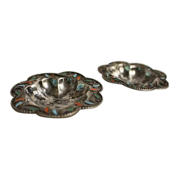 c. 1890s Pair of Silver Salt Dishes