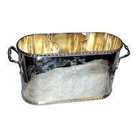 c.1920s English Silverplate Champagne or Wine Caddy
