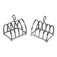 Modern Sterling Silver Toast Racks by Davidson, Henderson & Sosley - a Pair