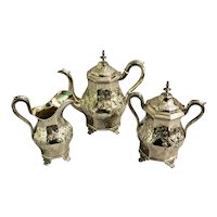 Mid 19th Century Coin Silver Tea Set by Jones, Ball & Poor - Set of 3