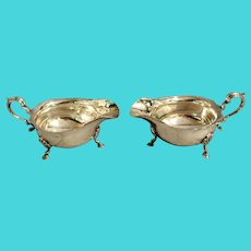 Early 20th Century English Silverplate Sauce Boats