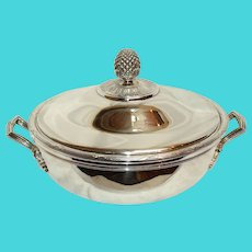 Late 20th Century Silverplate Covered Vegetable Dish by Christofle