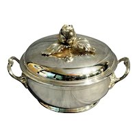 Vintage Silverplate Puiforcat Covered Vegetable Bowl