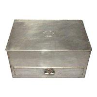 19th Century English Silver Plated Desk Organizer