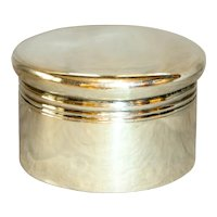 Early 20th Century Circular Sterling Silver Box