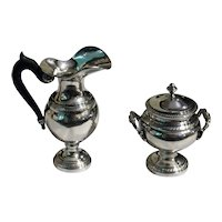 Early 19th Century Silver Cream & Covered Sugar