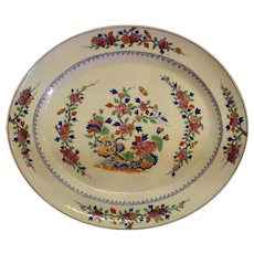 19th Century Famille Rose Chinese Export Platter