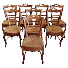 Set of 8 Country French Side Chairs