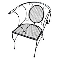 1950's Wrought Iron Outdoor Arm Chair