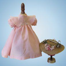 Pink Easter Doll Costume For Antique Dolls