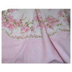 Pink Daisy Springtime Vintage Cotton Fabric
