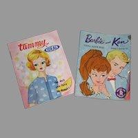Original Vintage Barbie & Tammy Factory Fashion Doll Booklets