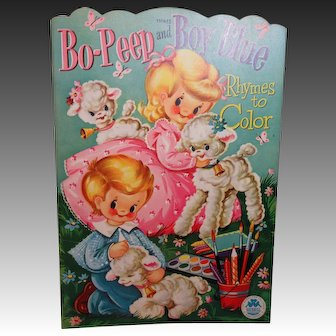 Charming Vintage Coloring Book: Bo Peep and Boy Blue-Merrill