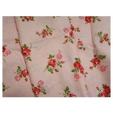 Feminine 1950's Roses Cotton Fabric