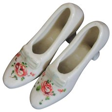 Dainty Vintage China Shoes-Hand Painted