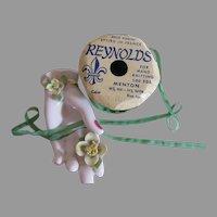 Emerald Narrow Silk Ribbon