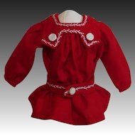 Premier Bleuette Tablier Diecoliere Smock In Red!