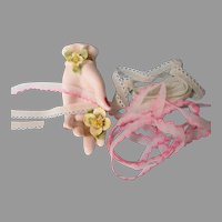 Two Delicate Narrow Lingerie Doll Laces