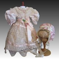 Divine Doll Costume-Pink Silk & Lace