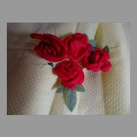 Bouquet of Vintage Silk Millinery Roses!