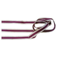 French Silk Lettuce Edge Ribbon-