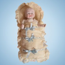 Sweet Antique German All Bisque Baby Doll