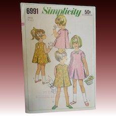 Adorable Vintage Toddler Dress Pattern
