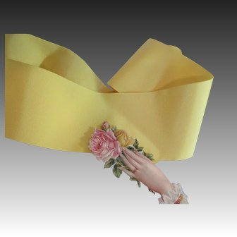 Beautiful Yellow Grosgrain Vintage Ribbon
