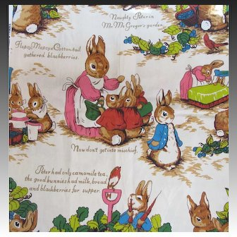 Wonderful Peter Rabbit Vintage Fabric