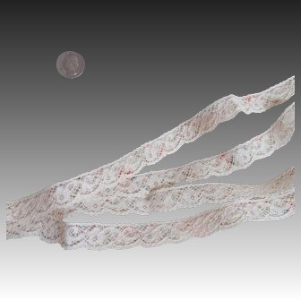 Prettiest Vintage Voile Fabric + Lace!