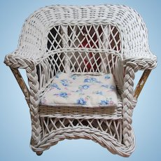 Vintage Wicker Doll Porch Chair