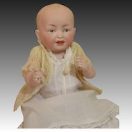 "Darlin' All Bisque Baby Doll-9"" Tall"