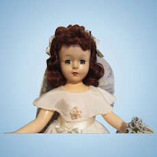 Charming Vintage Bride Doll-1947