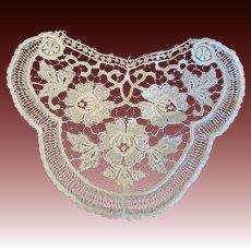 Fabulous Large Antique Lace Applique