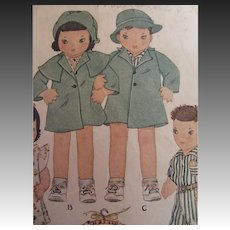 McCall's Twin Doll Pattern-1930's