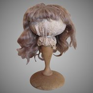 Silky Antique Mohair Doll Wig-Size 12