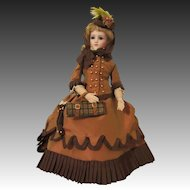 Fabulous Silk Travel French Fashion Doll Ensemble