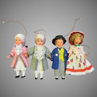 Adorable Vintage Doll Christmas Tree Ornaments