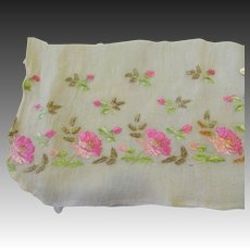 Bit Of Antique Silk Embroidery