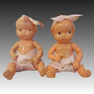 Irwin Hard Plastic Twins-Cute Babies