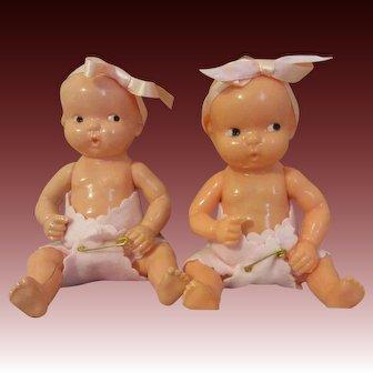 Irwin Hard Plastic Twins-Cute Babies