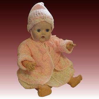 Cozy Pink Crochet Baby Sweater, Hat & Booties!